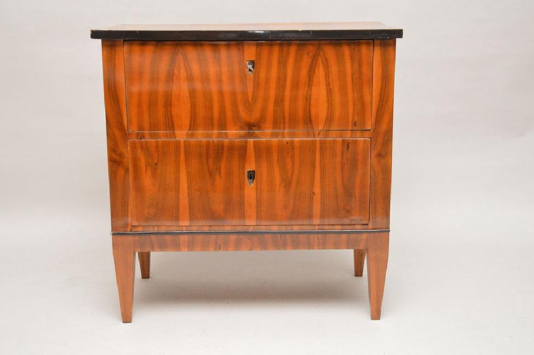 18th Century Biedermeier two drawer commode with