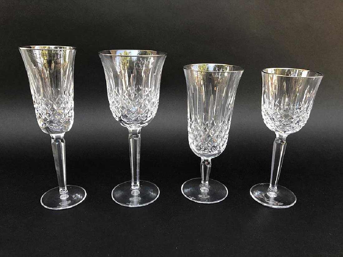44 Pieces Waterford Crystal Stemware.  11 Red Wine