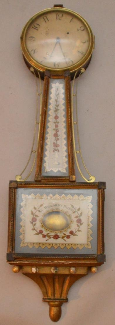 S. Willard Patent Banjo clock, 36 inches tall