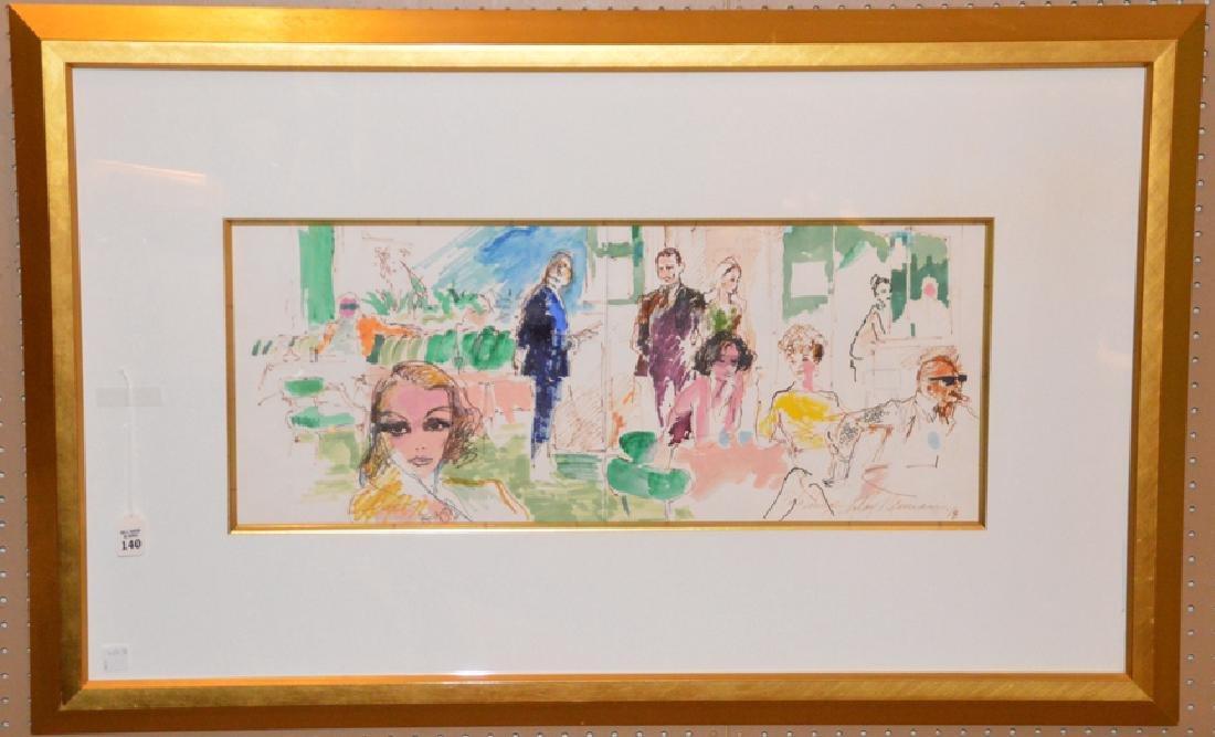 LeRoy Neiman (American 1921 - 2012) Original Watercolor