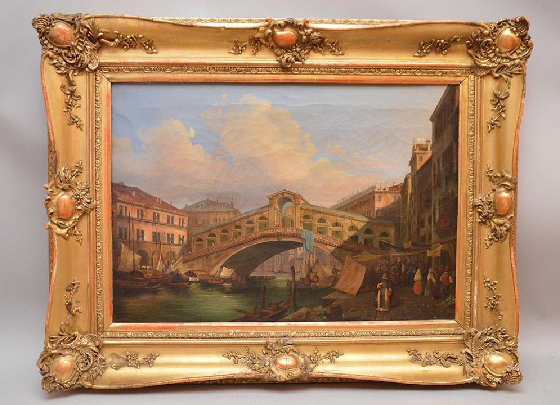 Fausto Antonioli (ITALIAN, 1814-1882) oil on canvas,