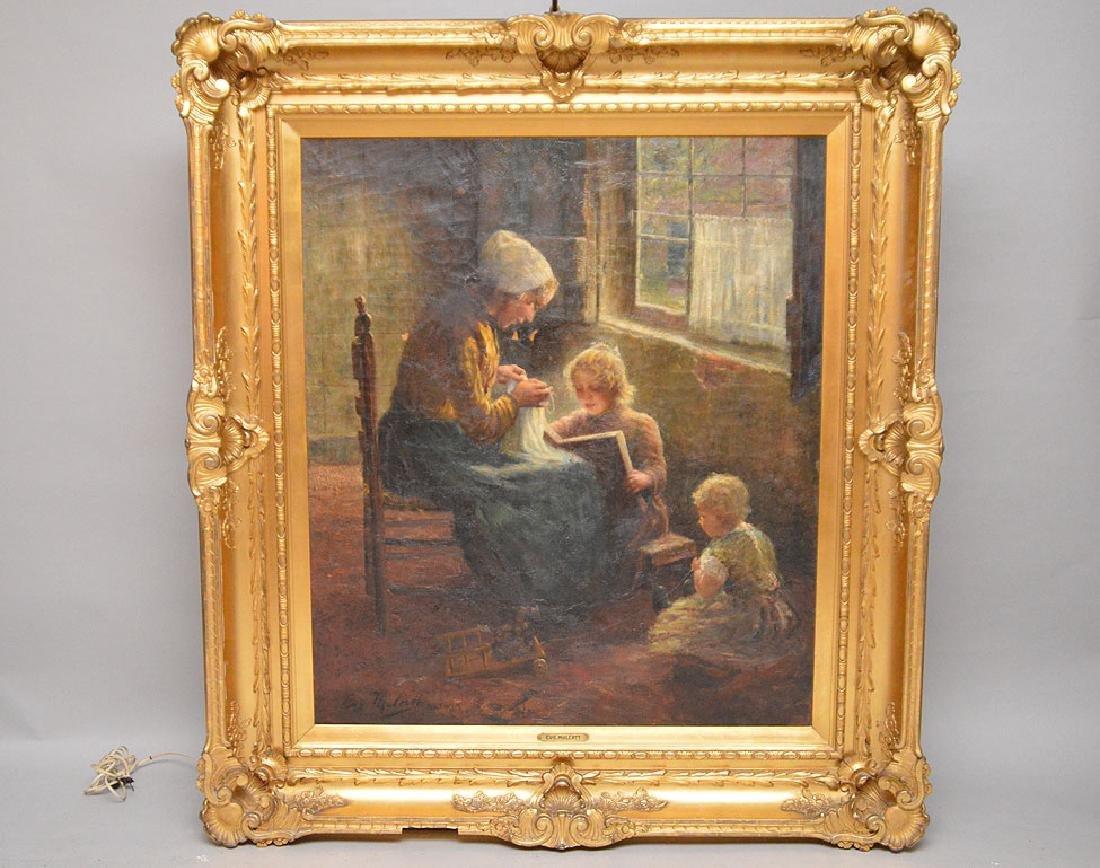 Carl Eugene Mulertt (AMERICAN, 1869-1915) oil on