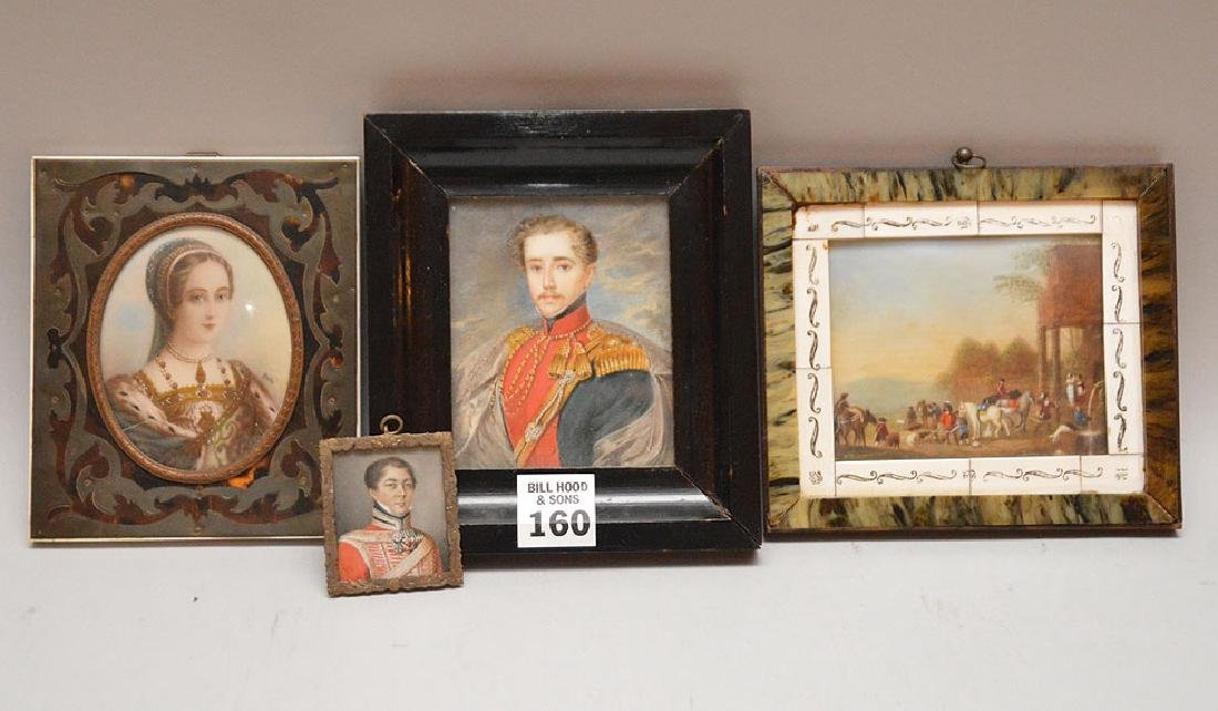 4 Miniature Paintings. 3 Portraits, and one Landscape 3