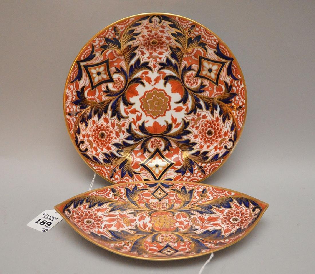 "Two pieces English Derby ""Imari"", circa 1860, plate (8"