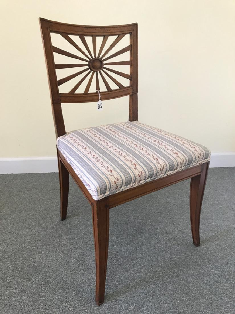 "French fruitwood chair, circa 1920, 26""h"