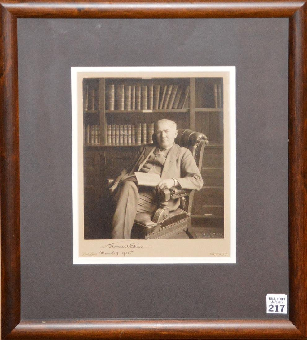 Inventor Thomas Edison March 9th 1905 signed framed