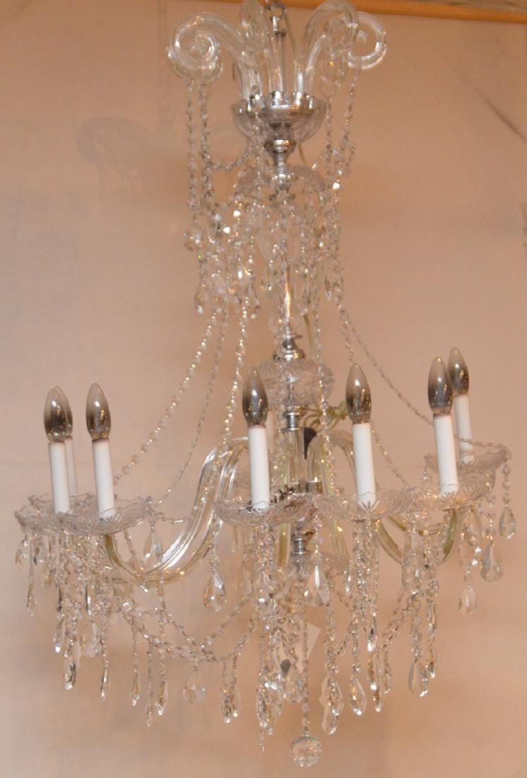 Crystal 8 light chandelier