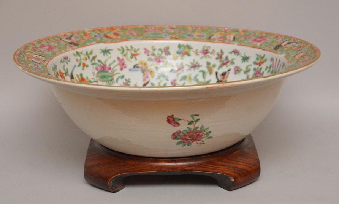 "Rose Canton bowl, 19th c, 5 1/2""h x 16""w"