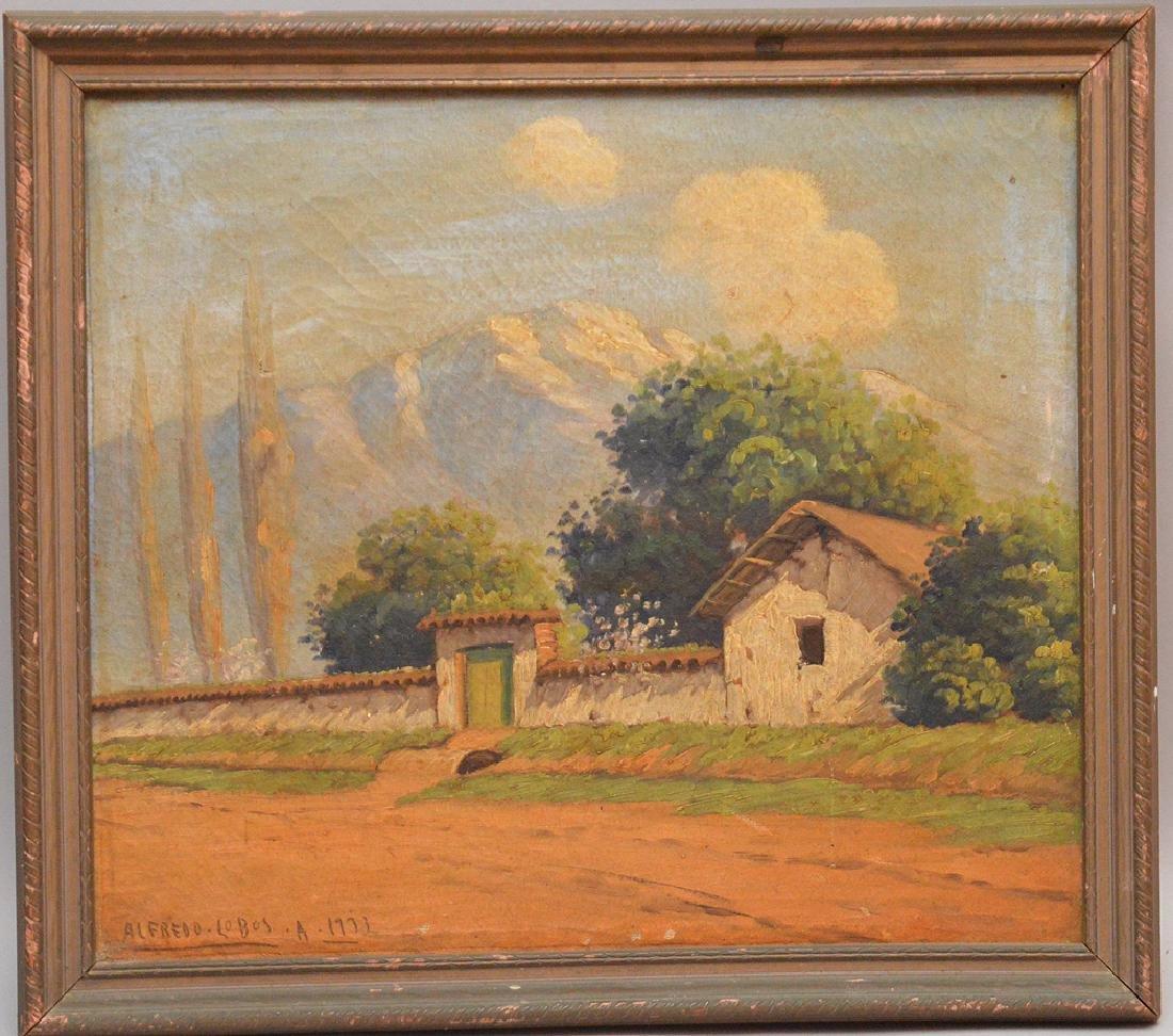 Alfredo Lobos (Chilean, 1890–1917) oil on canvas,