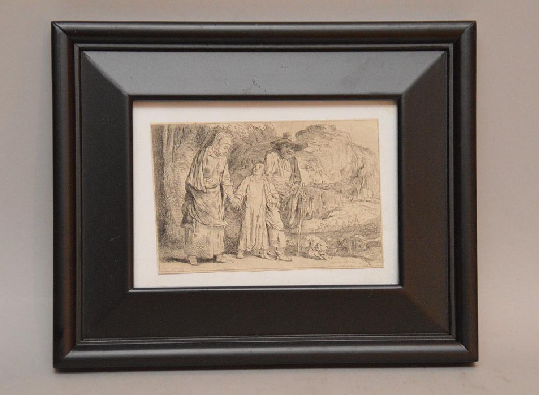 Rembrandt Bugatti (Italian, 1885–1916) etching, three