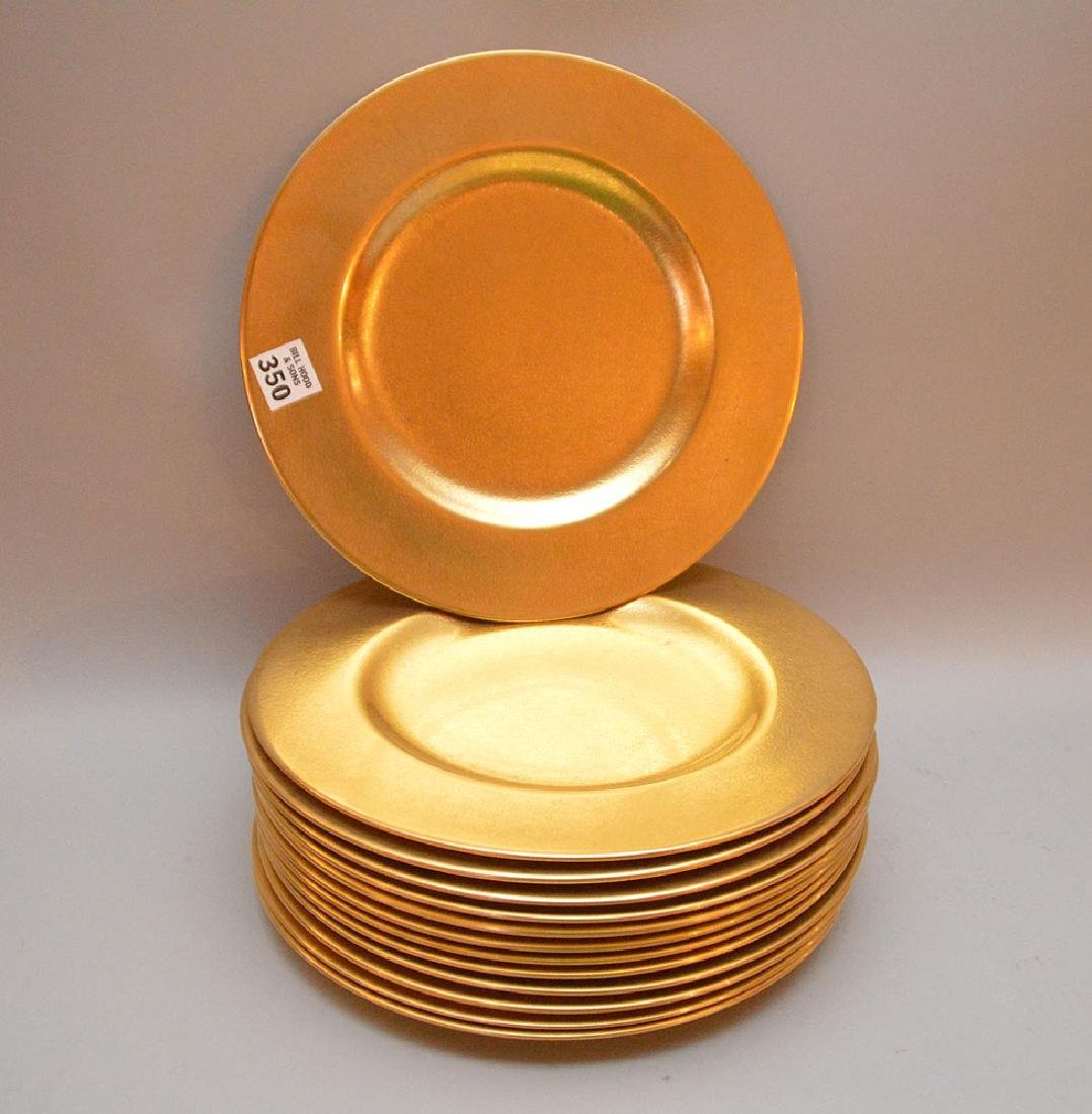 "13 Picard dinner plates, 10 1/2""dia"