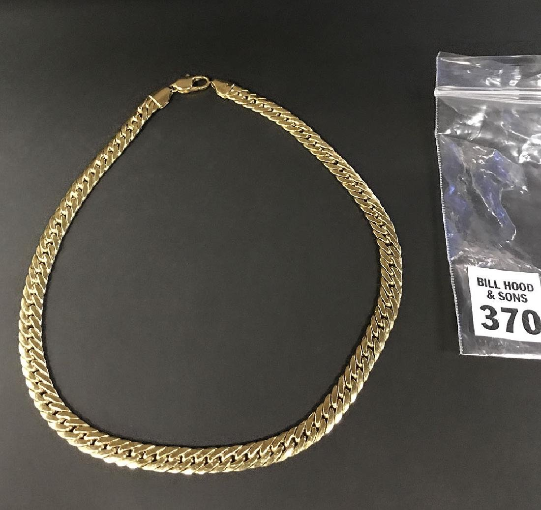 """18kt yellow gold men's chain, 16 3/4""""L, overall weight"""