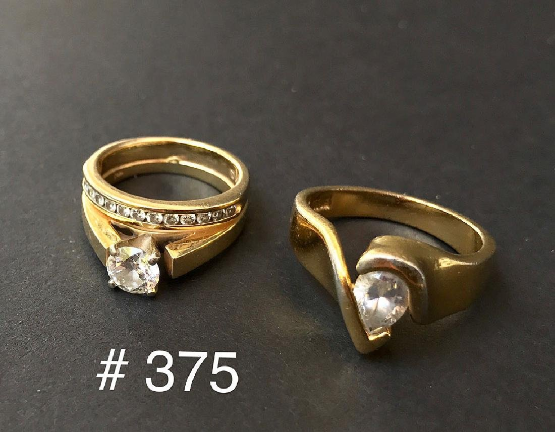 2 gold & diamond rings, one ring 18kt yellow gold &