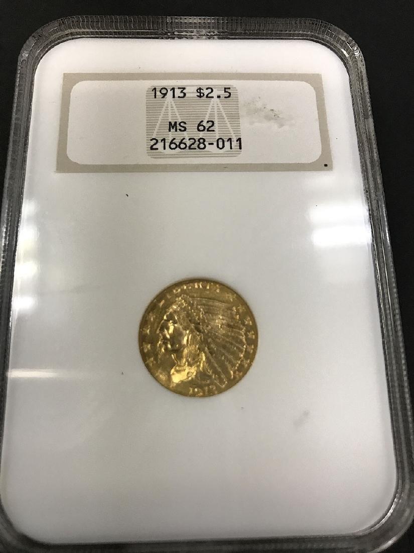1913 dollar gold coin, 2.5