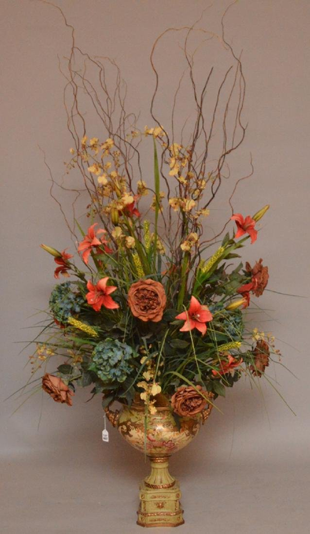 Large Decorative floral centerpiece in vase, vase 18
