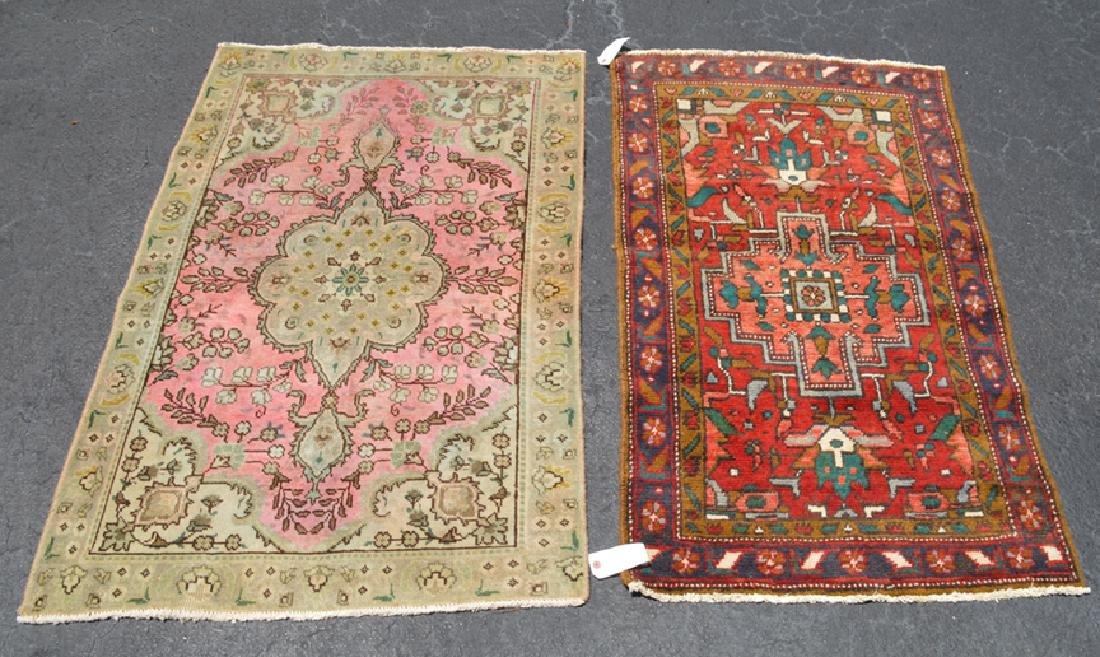 2 rugs sold together- Heriz Rug 2.7 x 4.1 feet, Tabriz