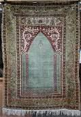 "Persian Prayer Rug, Silk Hand made, Size 62"" X 46"""