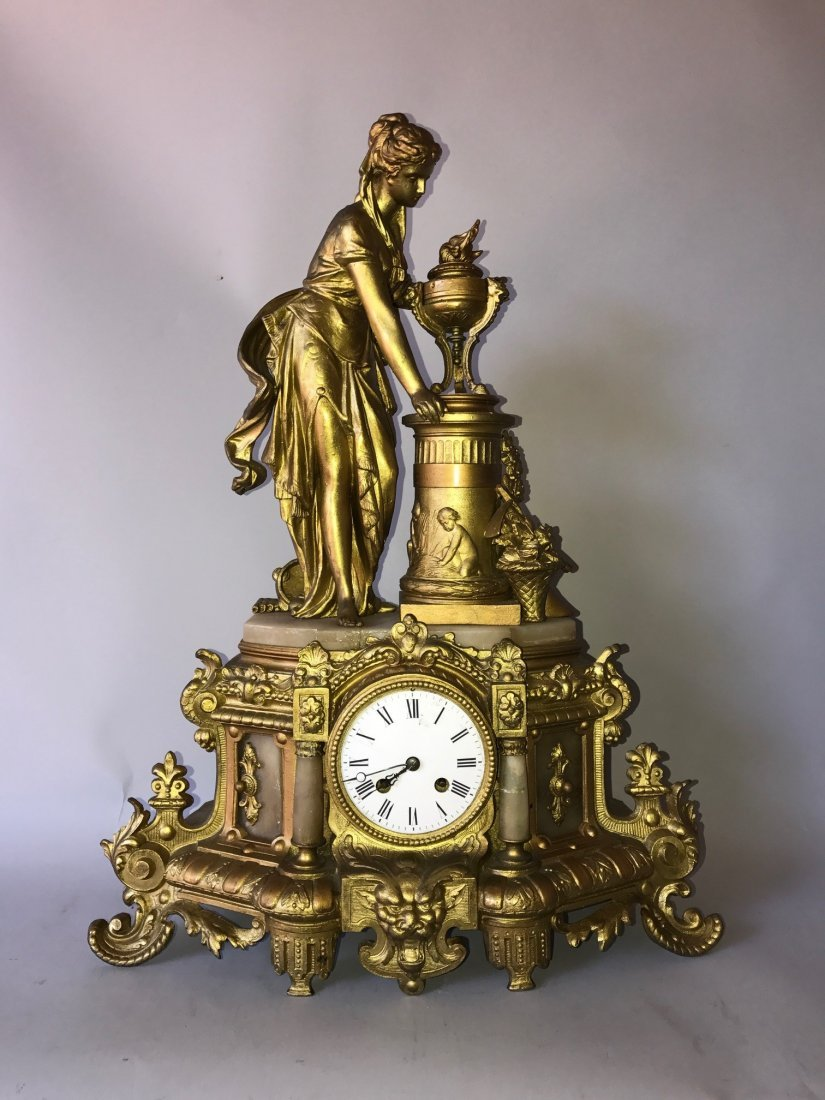 French Bronze Clock, rough condition