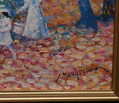 1181: Lucien Neuquelman French oil pointillist painting - 3