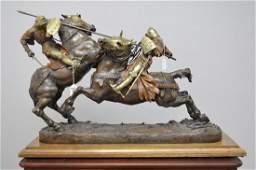 Daniel Joseph Bacque FRENCH 18741947 Bronze Knights