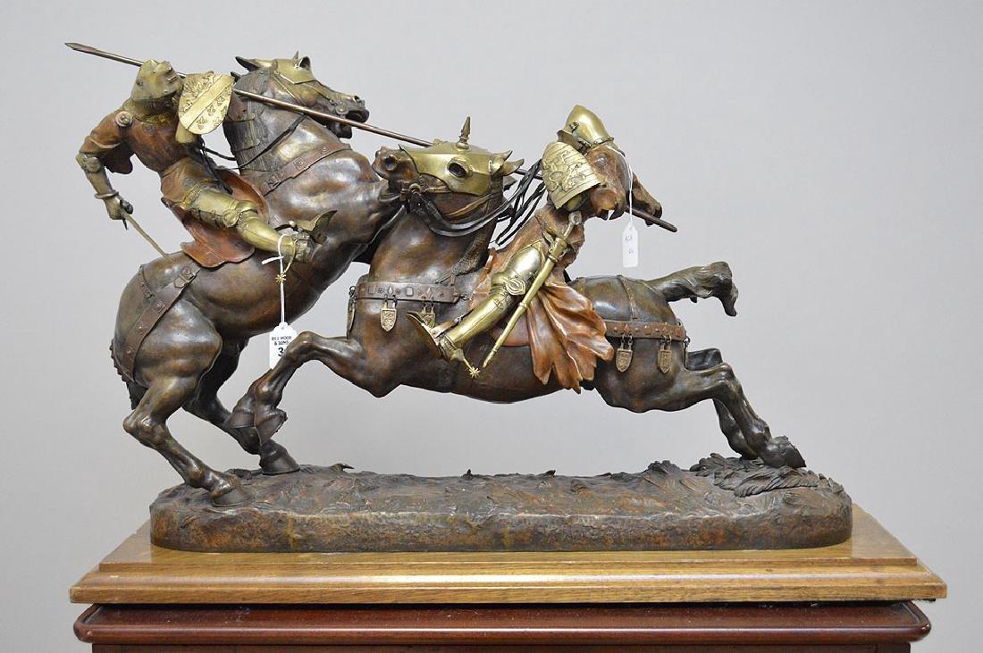 Daniel Joseph Bacque (FRENCH, 1874-1947) Bronze Knights