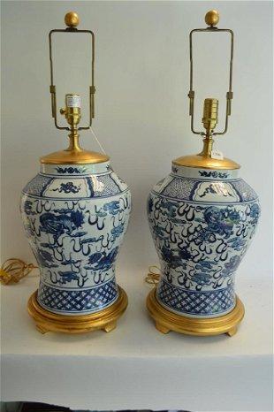 Ralph Lauren Blue And White Porcelain Lamps May 30 2020 Joshua Kodner In Fl,Baby Shower Decorations Girl Elephant