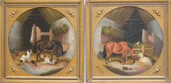 Pair of English 19th Century oil on canvas paintings