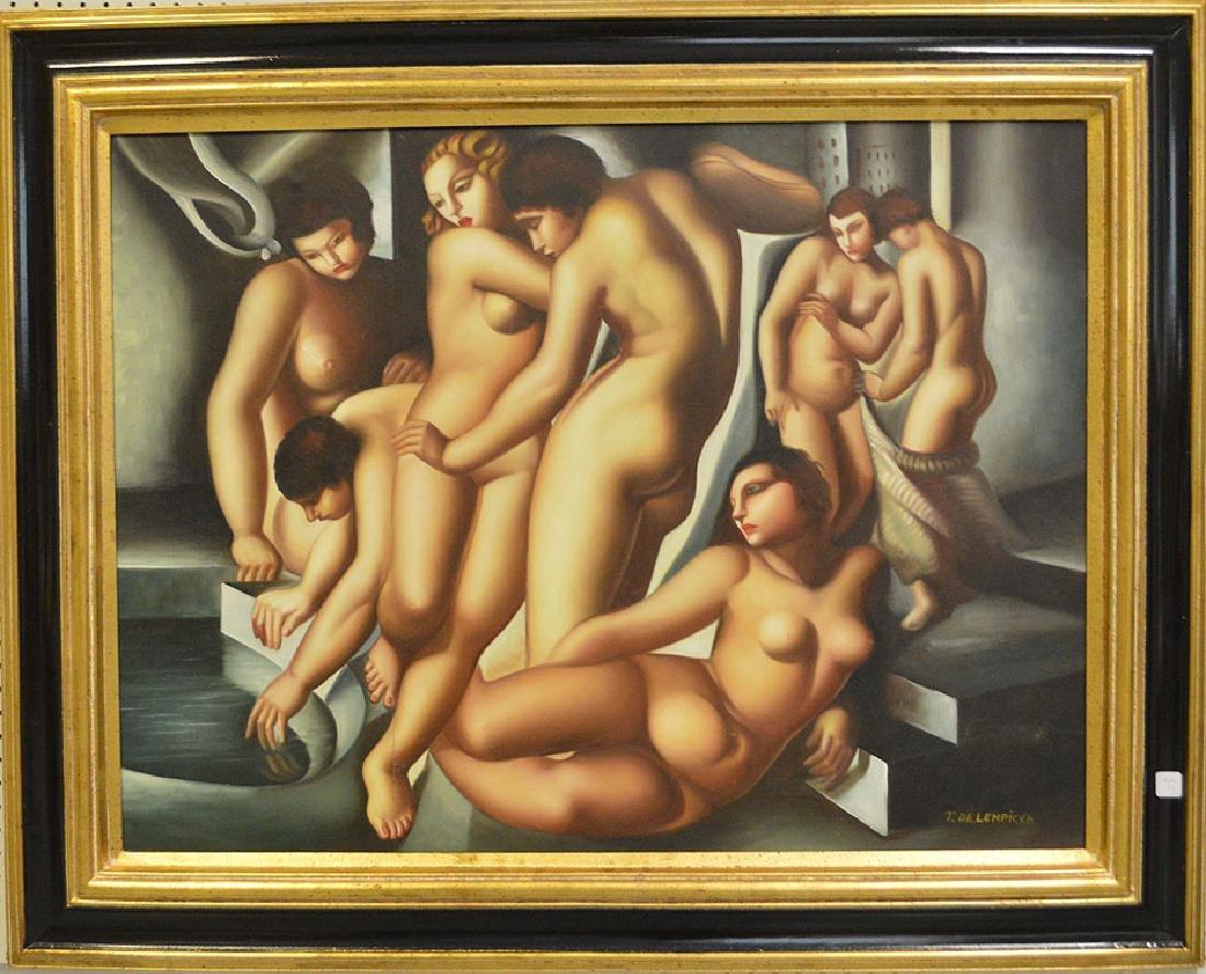 AFTER Tamara de Lempicka (POLISH1898-1980) oil Painting
