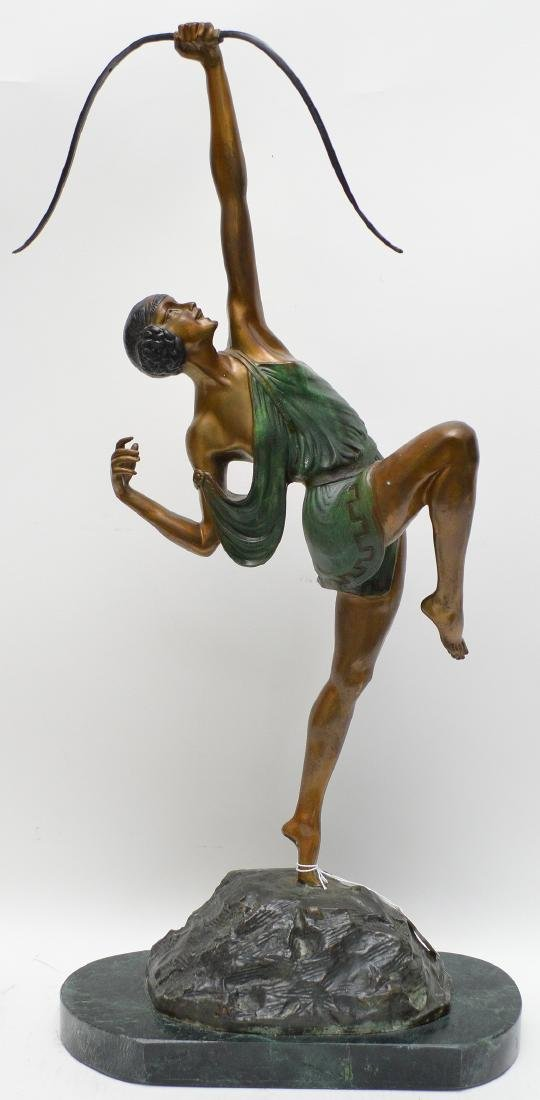 Patinated & Polychrome Bronze After Pierre Le Faguays