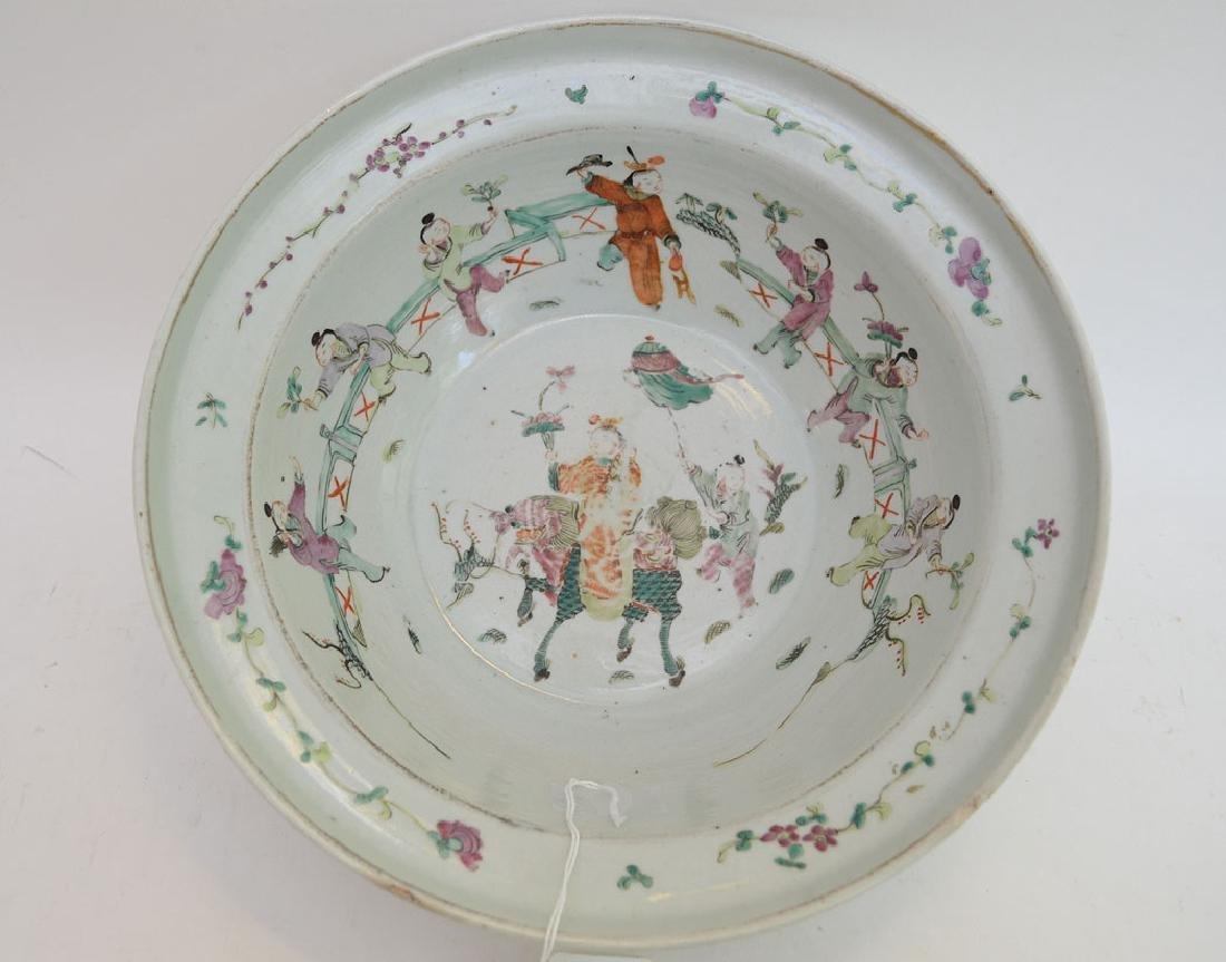 "Chinese Porcelain Bowl.  Ht. 3 1/4"" Dia. 11 1/4"""