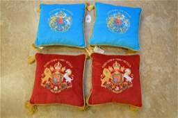 """4 Windsor Castle """"God Save The Queen"""" pillows"""