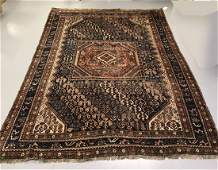 Vintage Persian handmade carpet 7 x 9 feet