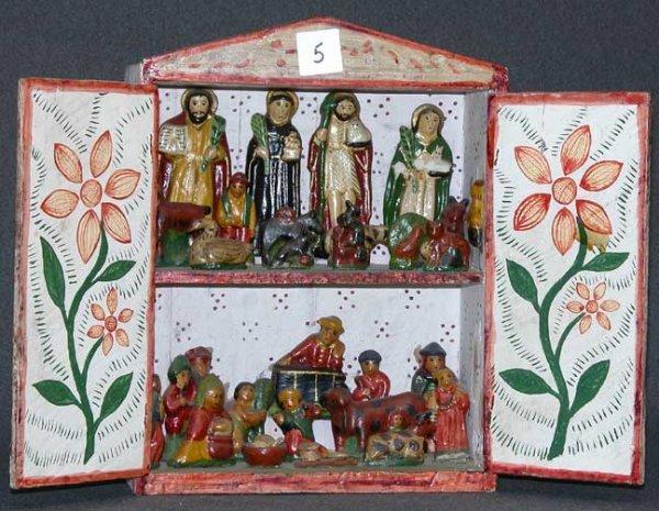 5: South American retablo, double doors open to reveal