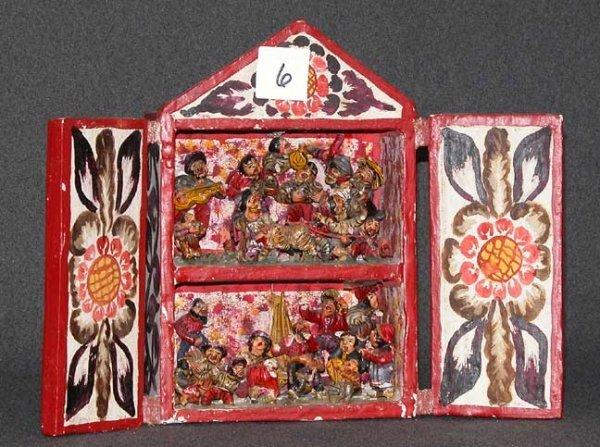 6: South American retablo, double doors open to reveal
