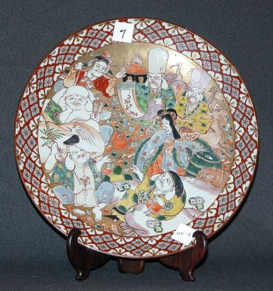 7: 1920's Japanese charger with 8 figures in various mo