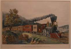 150A Colored lithograph American Express Train HTP 20