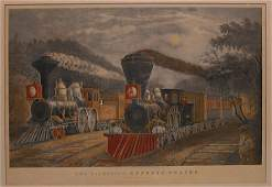 150B Colored lithograph Lightening Express Trains HTP