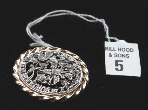 505: Vintage diamond pin mine and rose cut diamonds