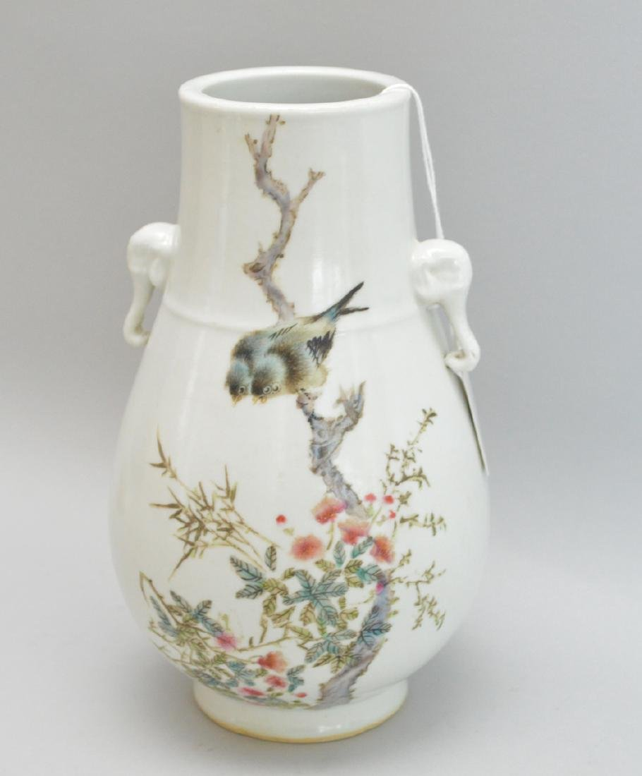 Chinese Porcelain Vase with floral and bird decoration
