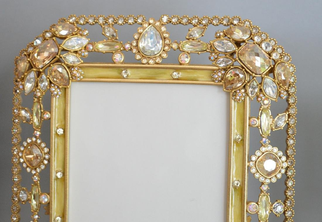 3 Jay Strongwater Enamel & Jeweled Frames.  Condition: - 2