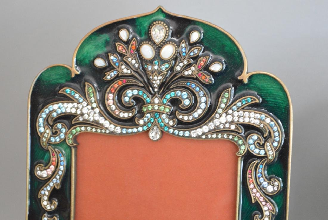 3 Jay Strongwater Enamel & Jeweled Frames.  Condition: - 3