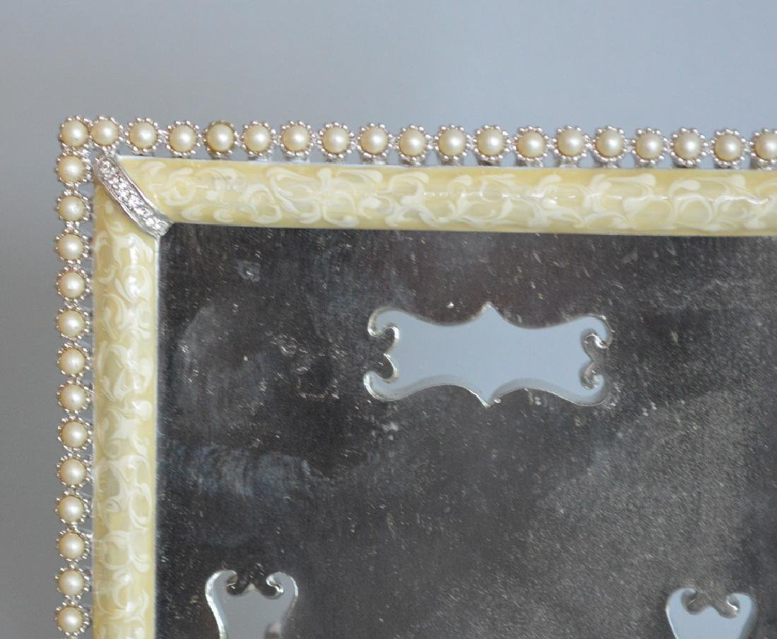 3 Jay Strongwater Enamel & Jeweled Frames.  Condition: - 4