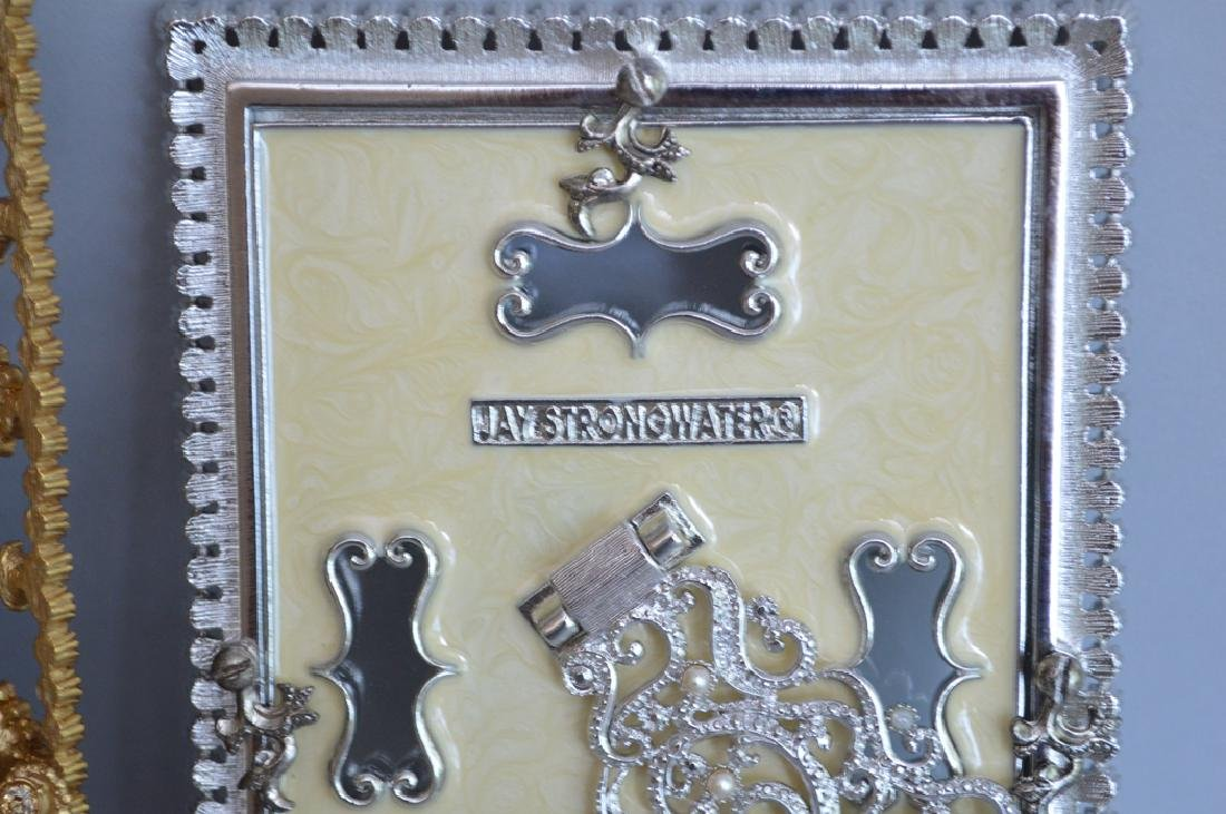 3 Jay Strongwater Enamel & Jeweled Frames.  Condition: - 8