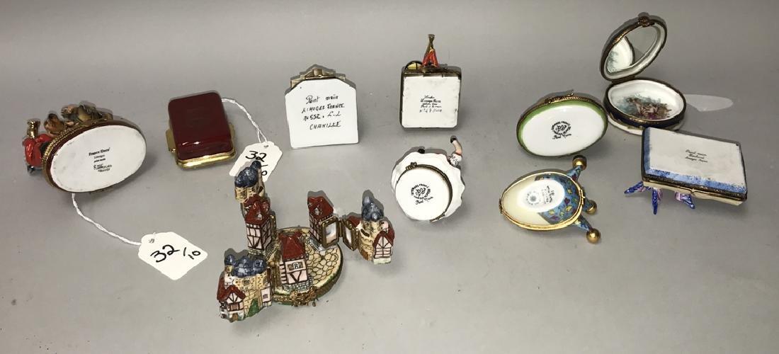10 Limoges porcelain boxes, tallest dog band (3 1/2h) - 2