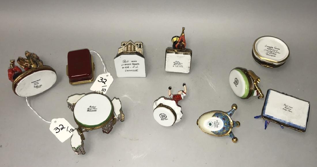 10 Limoges porcelain boxes, tallest dog band (3 1/2h) - 4