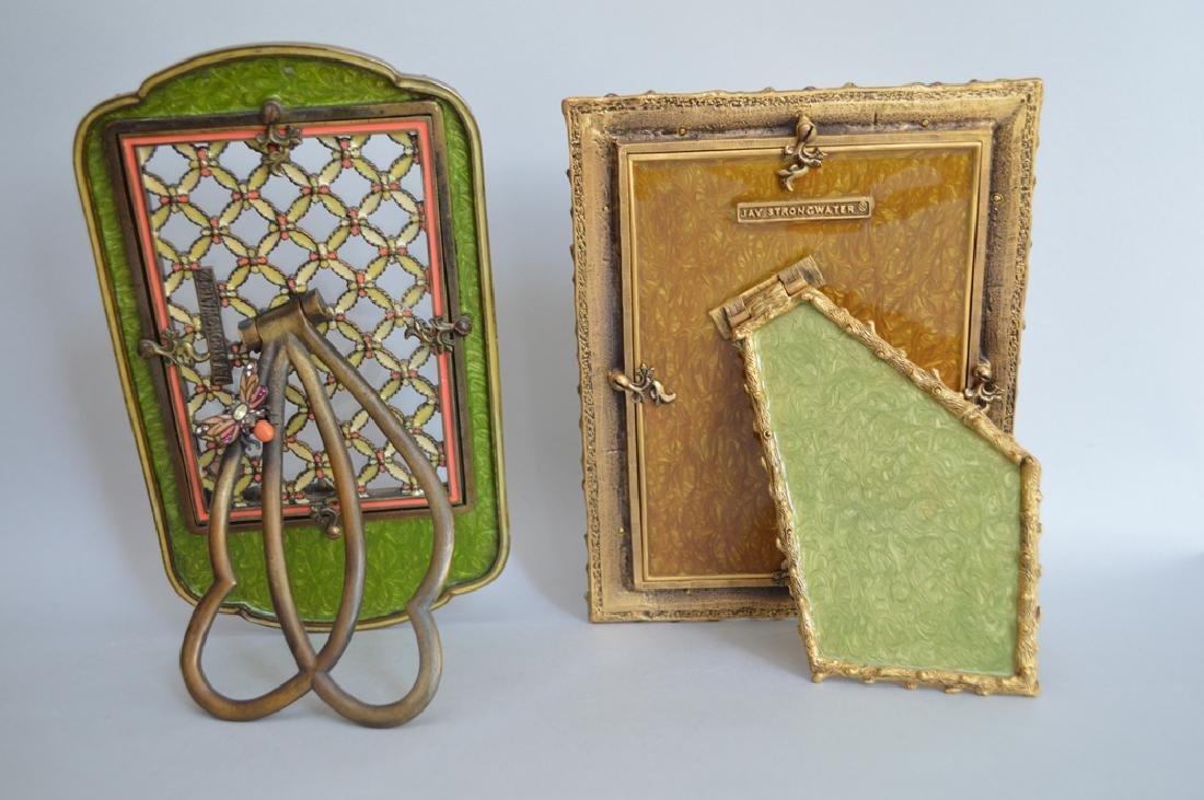 2 Jay Strongwater enamel & jeweled frames, one frame - 2
