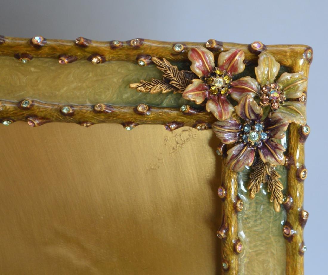 2 Jay Strongwater enamel & jeweled frames, one frame - 4