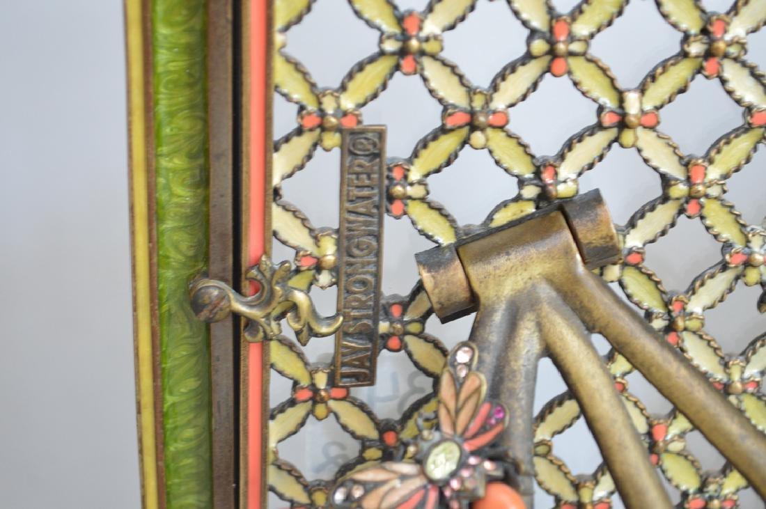 2 Jay Strongwater enamel & jeweled frames, one frame - 5