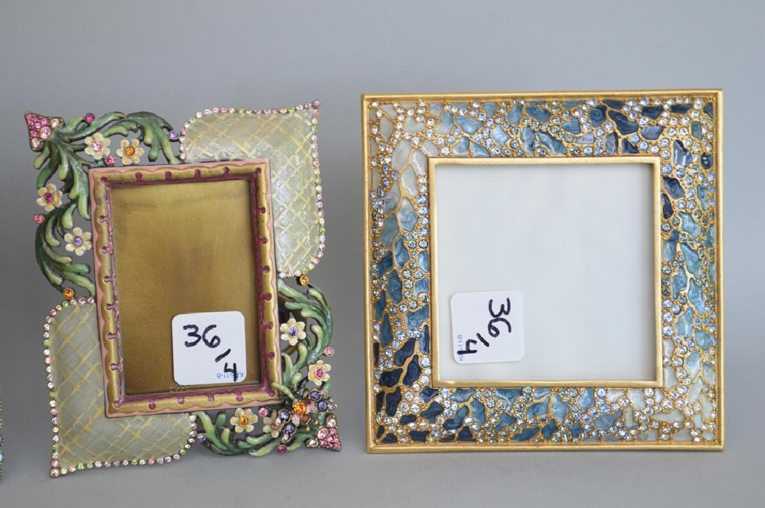 4 Jay Strongwater enamel frames, each frame is signed - 2
