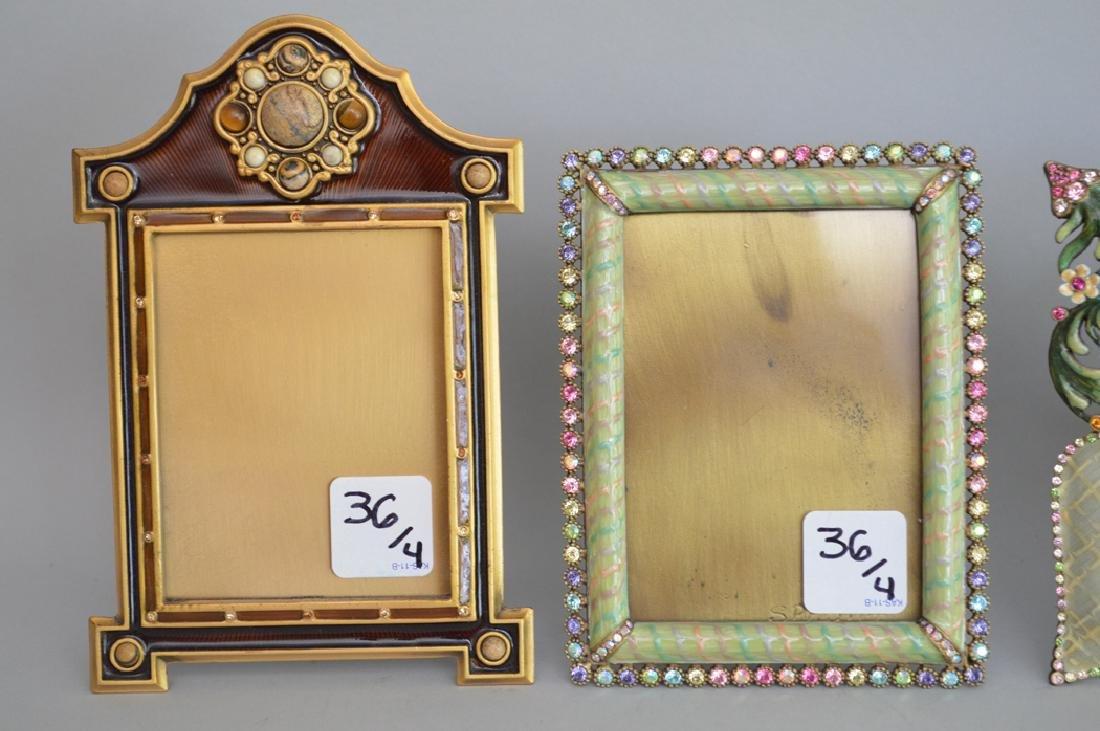 4 Jay Strongwater enamel frames, each frame is signed - 3